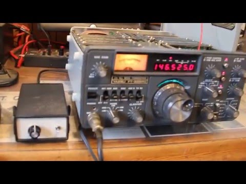 Testing a Yaesu FT-225RD multi-mode 2 meter transceiver