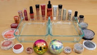 Rose Gold vs Holo - Mixing Makeup Eyeshadow Into Slime Special Series 175 Satisfying Slime Video