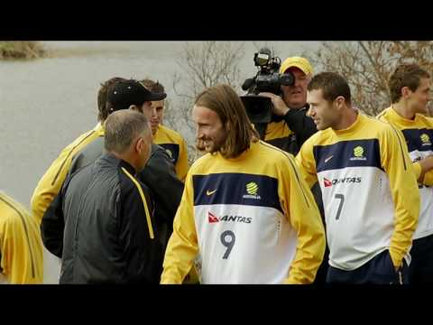 John Travolta visits Socceroos Video