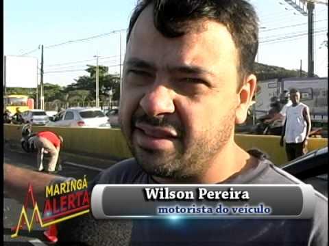 ACIDENTE ENTRE 5 MOTOS E 1 VEÍCULO DEIXA 6 PESSOAS FERIDAS NA AV  COLOMBO EM MARINGÁ