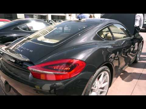 ALL NEW 2014 Porsche 981 Cayman S Basalt Black Sneak Peek with Exhaust Test @porscheconnect