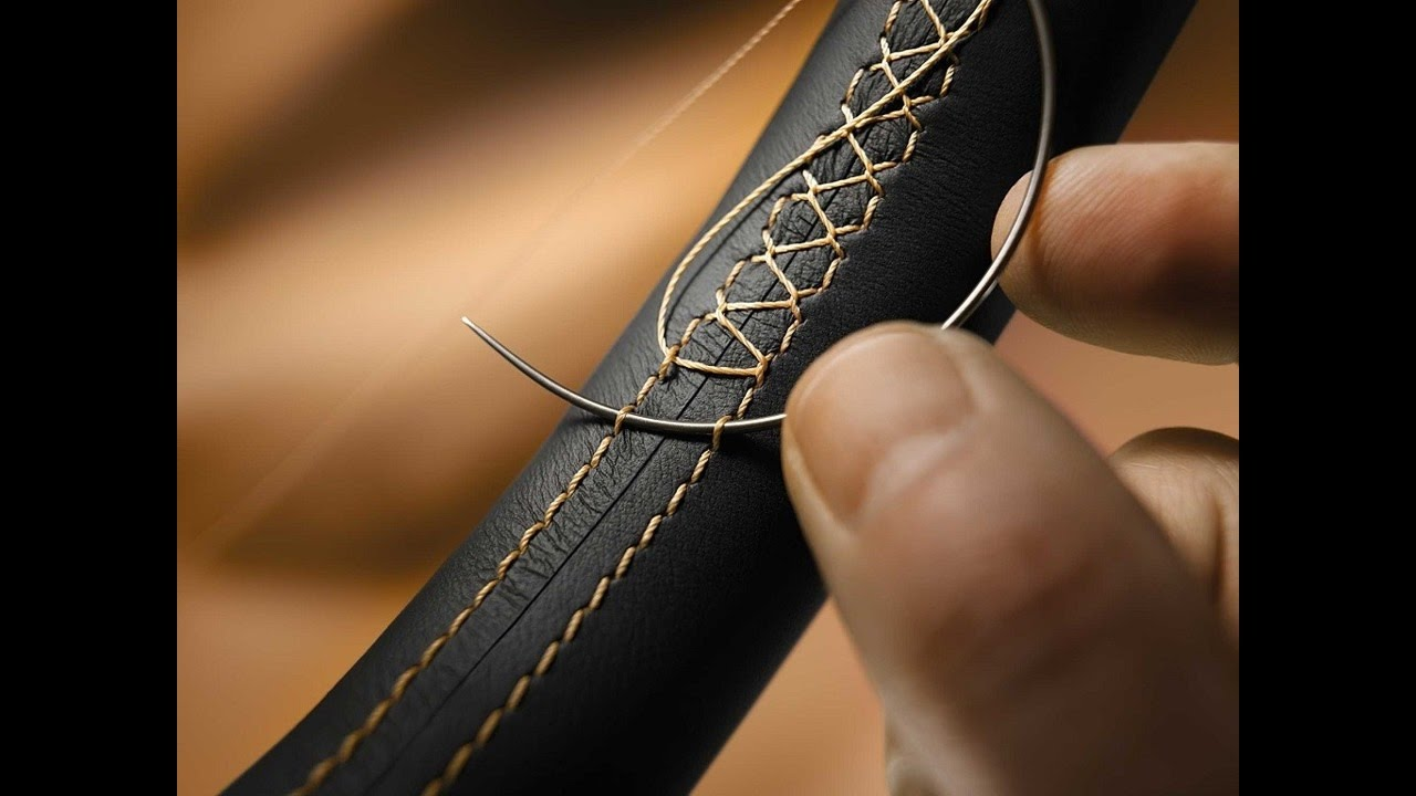 Оплетка на руль из натуральной кожи со шнуровкой своими руками