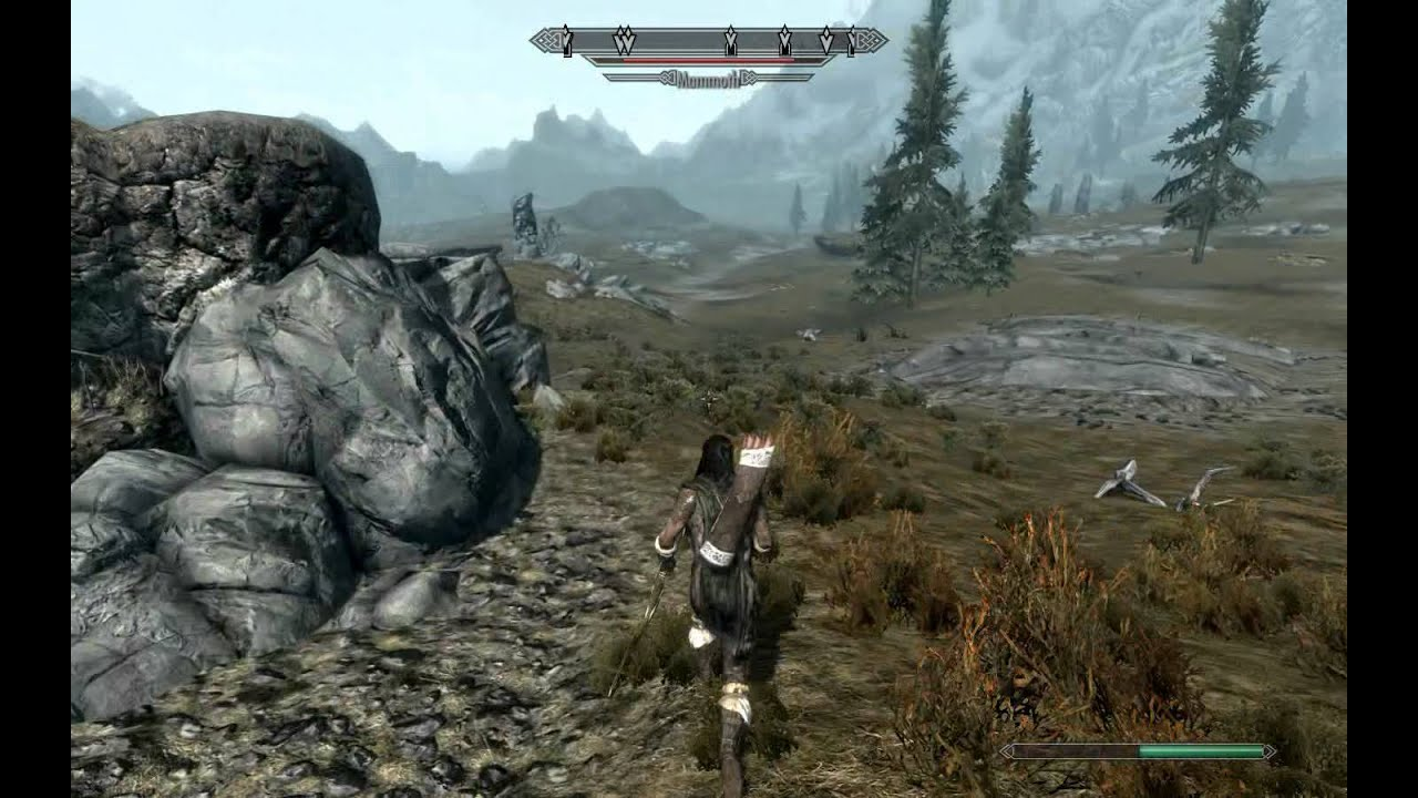 Skyrim Mammoth vs Dragon Skyrim is Here Killing Dragon