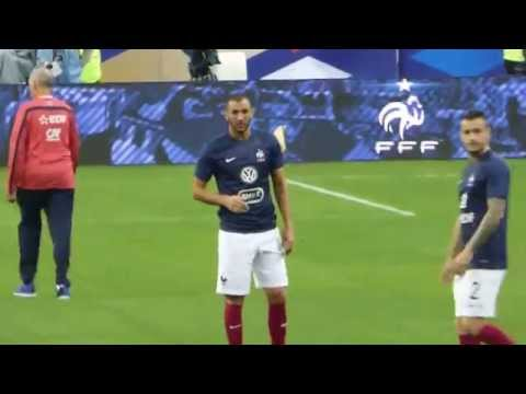 Antoine Griezmann, Mathieu Debuchy, Karim Benzema, Raphael  Varane