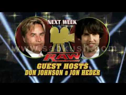 RAW Guest Hosts- Jon Heder and Don Johnson.flv