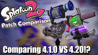 Splatoon 2 - Patch Differences & Thoughts of 4.1.0 vs 4.2.0?!