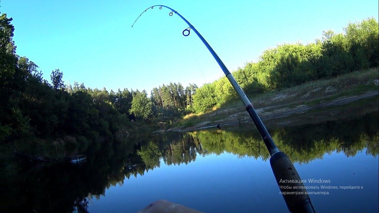 ловля на малых реках летом видео