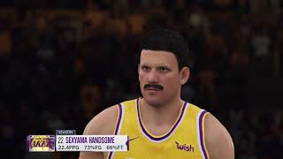 NBA Live 19 - Sexyama Handsome is The One for the LA Lakers (The League)