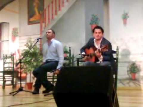 JUAN CARLOS SANCHEZ SUAREZ Y FRANCISCO PINTO en la peña de Villafranca de los Barros