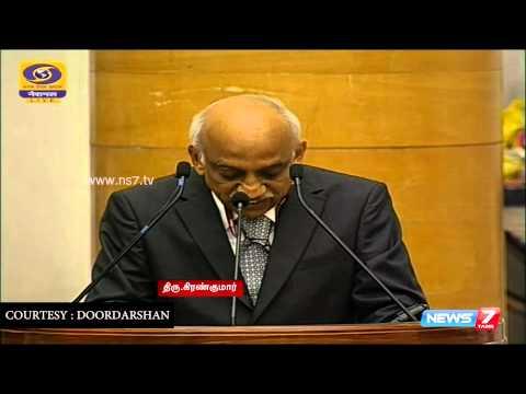 ISRO gets Gandhi Peace award from President Pranab Mukherjee | India | News7 Tamil