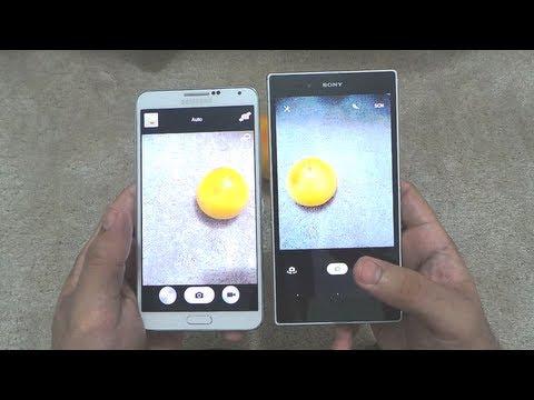 Samsung Galaxy Note 3 Vs Sony Xperia Z Ultra Camera & Camcoder Comparison