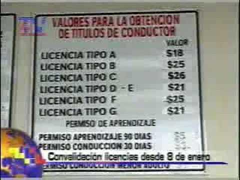 Convalidación de licencias de conducir