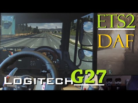 Euro Truck Simulator 2 - Logitech G27 gameplay. DAF trip. fully manual with clutch 900°. 1080p