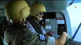 طائرات بلاك هوك وأس 92 تشارك في عمليات المسح الجوي للحدود السعودية