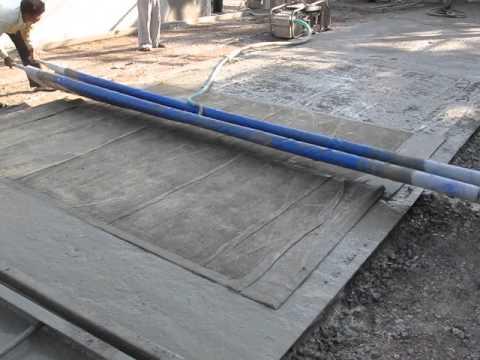 Vaccum dewatering vdf during tremix concrete flooring for Vacuum cleaner for concrete floors
