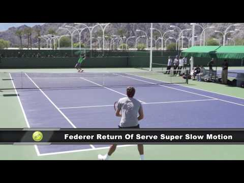 TENNIS - Roger Federer Return Of Serve In Super Slow Motion