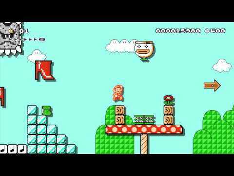 Super Mario Maker Gameplay NWC 2015 Levels 1 - 3 Playthrough