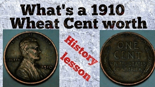 what's a 1910 no mint mark wheat cent worth. great video!!