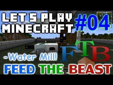 Let's Play Minecraft FTB Ep. 4 - Water Mill