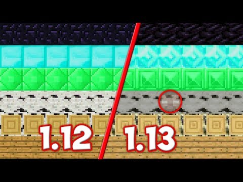 НОВЫЕ ТЕКСТУРЫ Minecraft 1.13? СРАВНЕНИЕ СТАРЫХ И НОВЫХ ТЕКСТУР В МАЙНКРАФТЕ