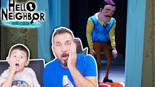 HELLO NEIGHBOR KAZIM USTANIN OĞLU DELİRDİ! | HELLO NEIGHBOR HIDE AND SEEK #8