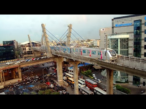 A View Of Mumbai Metro Train From Different Angles Compilation India 2014 [HD VIDEO]