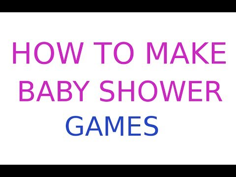 creative baby shower games you can make youtube