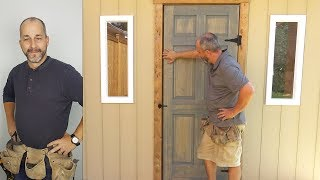 DIY Door and Window Install   How to Build a Shed   Part 5