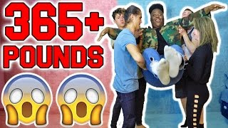 LIFTING 365+ LBS WITH OUR FINGER! (FINGER LIFT CHALLENGE)