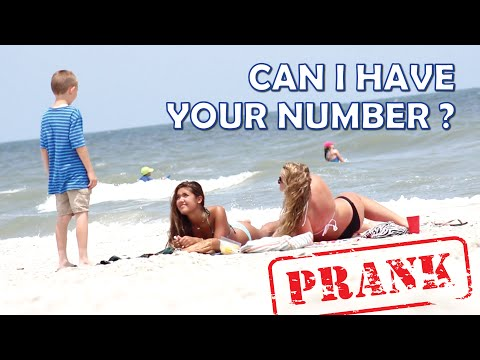 Can I Have Your Number PRANK - 9 year old Talking to Girls on the Beach thumbnail
