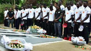 SENEGAL NATIONAL FOOTBALL TEAM PAYS TRIBUTE TO GENOCIDE VICTIMS AT KIGALI MEMORIAL