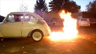 Two Stroke Fire Farting Subaru 360 Morning Drive