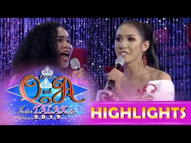 It's Showtime Miss Q & A:  Gabriela Leosala Ensomo and Solenn Garcia Morales share their arguments