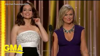 Tina Fey and Amy Poehler will return to host next year's Golden Globes | GMA