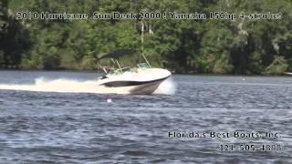 2010 Hurricane Sun Deck 2000 w/ Yamaha 150hp 4-Stroke!!