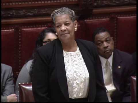 NYS Senator Ruth Hassell-Thompson speaks on the Marriage Equality Bill