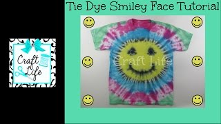 Craft Life ~ Jacy and Kacy DIY ~ Smiley Face Tie Dye Tutorial