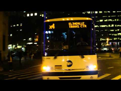 MTA New York City Bus: Prevost X3-45 #2400 X4 @ Broadway and Battery Place!