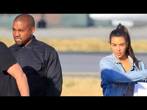 Kim Kardashian And Family Return From Miami Wedding