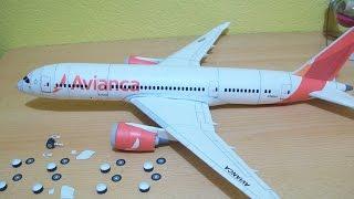 Avianca 787-8 Dreamliner Papercraft