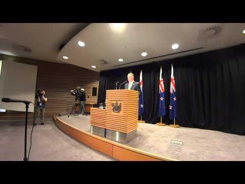 NZ PM John Key's Post Cabinet Presser 7/9/15 - Emergency Syrian Refugee Response