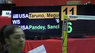 Boston Open MIT Badminton 2019 Sunday   Megumi Taruno /Sanchita Pandeley