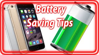 How To Save Battery iPhone 6 and iPhone 6 Plus - iOS 8 Battery Saving Tips