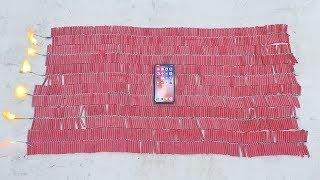iPhone X vs 10 000 Firecrackers!