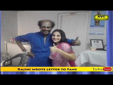 Rajini wrote letter to Fans