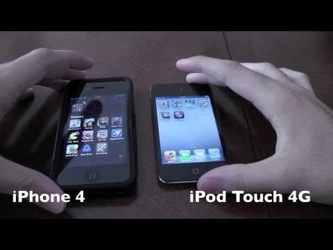 iPhone 4 VS iPod Touch 4G VS iPod Touch 2G: Hardware Comparison & Speed Test