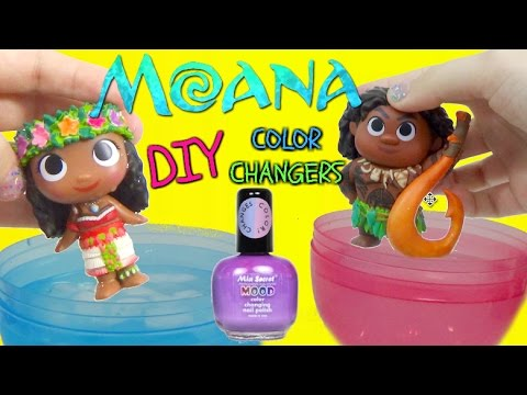 DISNEY MOANA MOVIE 2016 Color Changing NAIL POLISH DIY Toys VAIANA