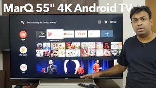 "MarQ TV 55"" IPS Smart TV 4K Certified Android TV Overview"
