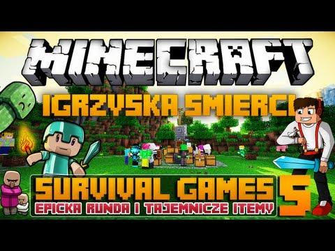 Minecraft Igrzyska Śmierci - Epicka Runda i Tajemnicze Itemy w/ PolskiPingwin - Survival Games #5
