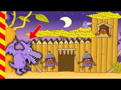 Игровой мультик про Адама и Еву. Мультики для мальчиков. Ищем выход из лабиринта